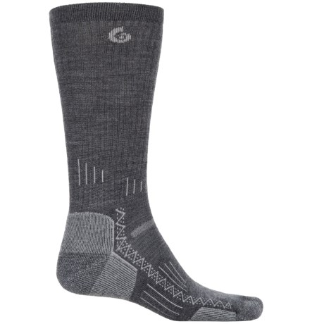 Point6 Hiking Tech Socks - Merino Wool, Crew (For Men and Women) in Gray