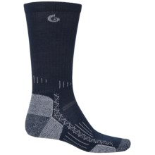 Point6 Hiking Tech Socks - Merino Wool, Crew (For Men and Women) in Navy - 2nds