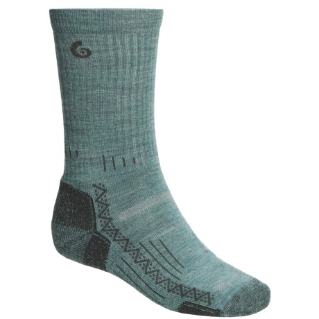 Point6 Hiking Tech Socks - Merino Wool, Crew (For Men and Women) in Ocean