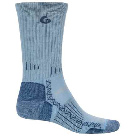 Point6 Hiking Tech Socks - Merino Wool, Crew (For Men and Women) in Sky - Closeouts