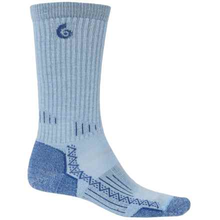 Point6 Hiking Tech Socks - Merino Wool, Crew (For Men and Women) in Sky - 2nds