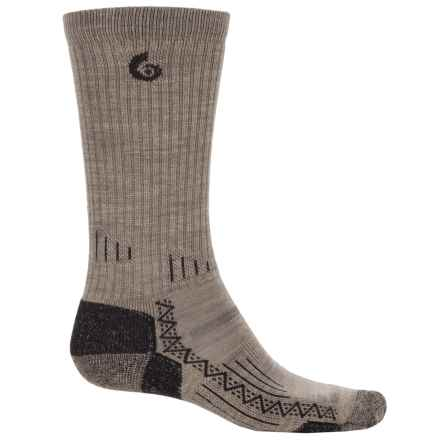 Point6 Hiking Tech Socks - Merino Wool, Crew (For Men and Women) in Taupe - Closeouts