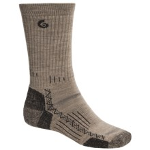 Point6 Hiking Tech Socks - Merino Wool, Crew (For Men and Women) in Taupe - 2nds