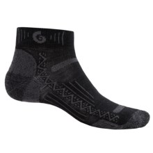 Point6 Hiking Tech Socks - Merino Wool, Quarter-Crew (For Men and Women) in Black - Closeouts
