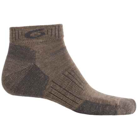 Point6 Hiking Tech Socks - Merino Wool, Quarter-Crew (For Men and Women) in Earth - Closeouts