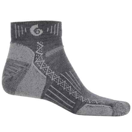 Point6 Hiking Tech Socks - Merino Wool, Quarter-Crew (For Men and Women) in Gray - Closeouts