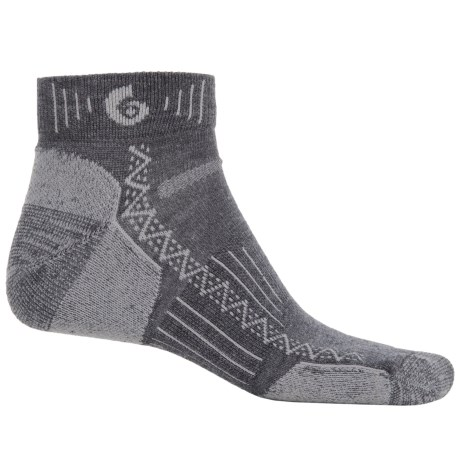 Point6 Hiking Tech Socks - Merino Wool, Quarter-Crew (For Men and Women)