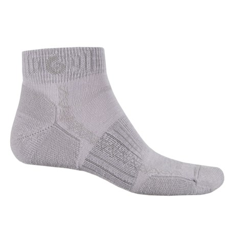 Point6 Hiking Tech Socks - Merino Wool, Quarter-Crew (For Men and Women) in Silver/Slate