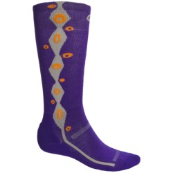 Point6 Lava Ski Socks - Merino Wool Blend, Over-the-Calf (For Men and Women) in Purple