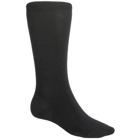 Point6 Lifestyle Lightweight Socks - Merino Wool, Crew (For Men and Women) in Black
