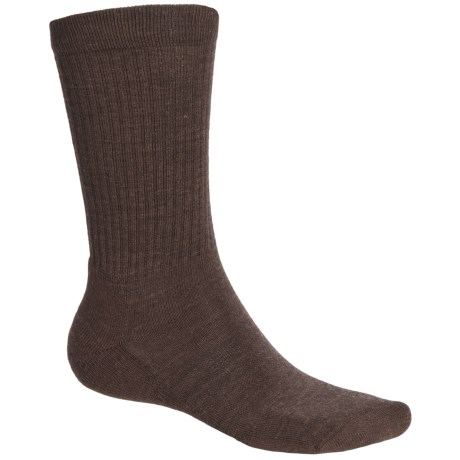 Point6 Lifestyle Lightweight Socks - Merino Wool, Crew (For Men and Women) in Chestnut
