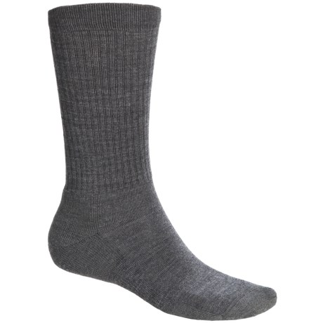 Point6 Lifestyle Lightweight Socks - Merino Wool, Crew (For Men and Women) in Grey