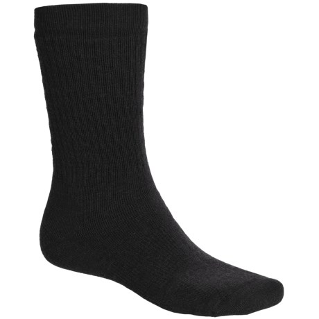 Point6 Lifestyle Medium-Weight Socks - Merino Wool, Crew (For Men and Women) in Black