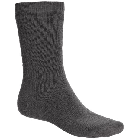 Point6 Lifestyle Medium-Weight Socks - Merino Wool, Crew (For Men and Women) in Grey