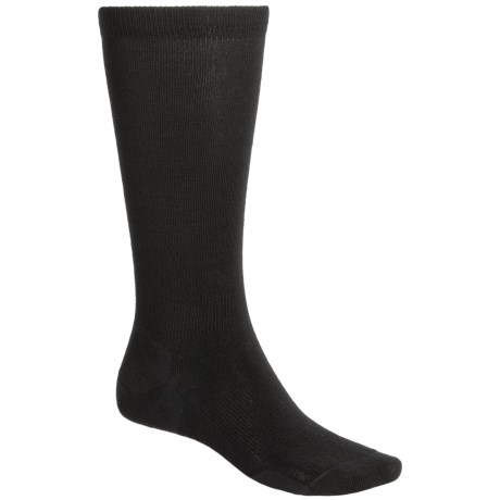 Point6 Lifestyle Ultralight Socks - Merino Wool, Over-the-Calf (For Men and Women) in Black