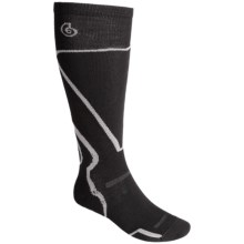 Point6 Light Cushion Ski Socks - Lightweight, Merino Wool, Over-the-Calf (For Men and Women) in Black - Closeouts