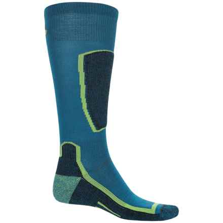 Point6 Light Cushion Ski Socks - Merino Wool, Over the Calf (For Men and Women) in Deep Teal - Closeouts