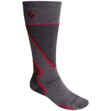 Point6 Light Cushion Ski Socks - Merino Wool, Over the Calf (For Men and Women) in Grey - Closeouts