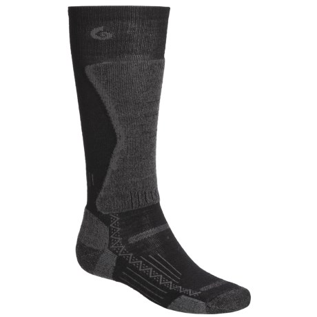 Point6 Lightweight Boot Socks - Merino Wool Blend, Over the Calf (For Men) in Black