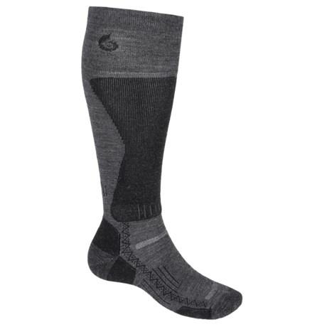 Point6 Lightweight Boot Socks - Merino Wool Blend, Over the Calf (For Men) in Gray