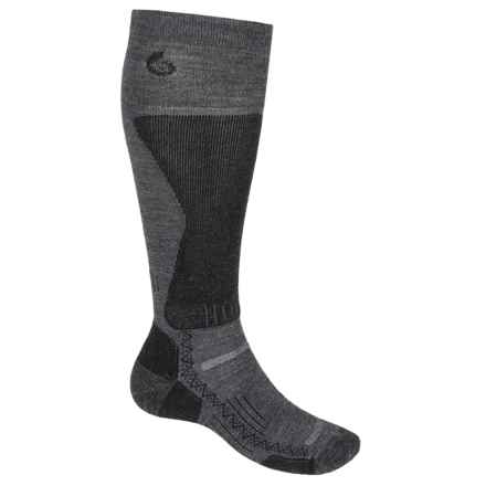 Point6 Lightweight Boot Socks - Merino Wool, Over the Calf (For Men) in Gray - 2nds