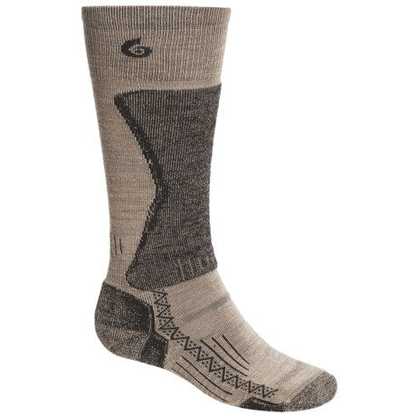 Point6 Lightweight Boot Socks - Merino Wool, Over the Calf (For Men) in Taupe