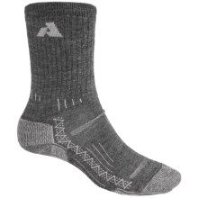 Point6 Lightweight Hiking Socks - Merino Wool, Crew (For Men and Women) in Grey - 2nds