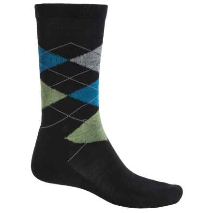 Point6 Liverpool Socks - Merino Wool, Crew (For Men and Women) in Black - Closeouts