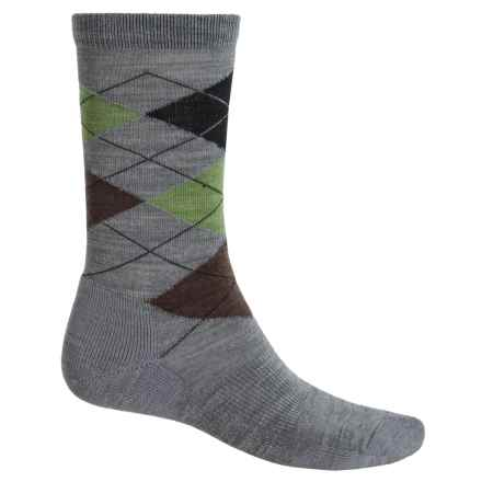 Point6 Liverpool Socks - Merino Wool, Crew (For Men and Women) in Stone - Closeouts