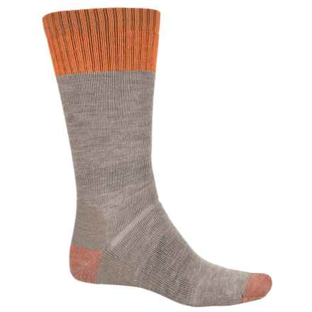 Point6 Lumberjack Medium Boot Socks - Merino Wool, Mid Calf (For Men and Women) in Taupe - Closeouts