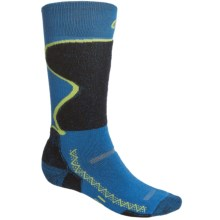 Point6 Medium Weight Snowsport Socks - Merino Wool, Over-the-Calf (For Men and Women) in Blue - 2nds