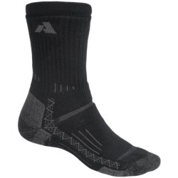 Point6 Midweight Trekking Socks - Merino Wool, Crew (For Men and Women) in Black
