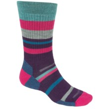 Point6 Mixed Stripe Medium Crew Socks - Merino Wool, Midweight (For Men and Women) in Imperial - 2nds