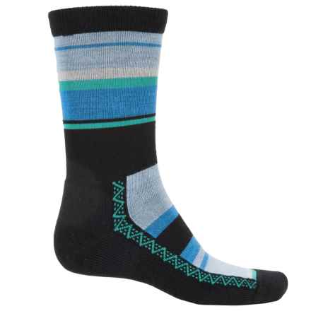 Point6 Multi-Stripe Lightweight Socks - Merino Wool, Crew (For Men and Women) in Black - Closeouts