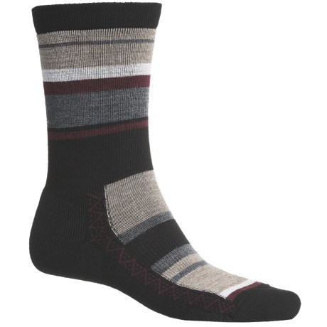 Point6 Multi Stripe Socks - Merino Wool Blend, Crew (For Men and Women) in Black
