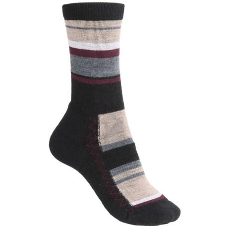 Point6 Multi-Stripe Socks - Merino Wool, Crew (For Women) in Black
