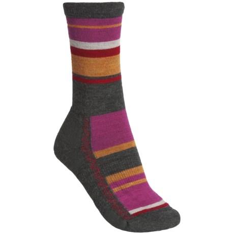 Point6 Multi-Stripe Socks - Merino Wool, Crew (For Women) in Grey