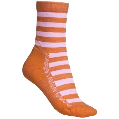 Point6 Nautical Stripe Socks - Merino Wool, 3/4-Crew (For Women) in Red