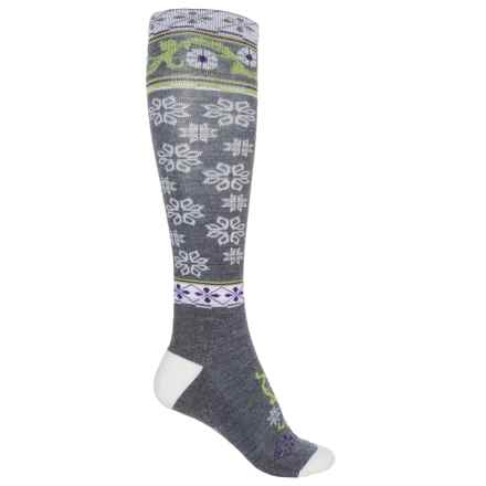Point6 Ornament Extra-Light Socks - Merino Wool, Over the Calf (For Women) in Gray - Closeouts