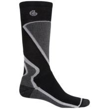 Point6 Park Ski Socks - Merino Wool, Over-the-Calf (For Men and Women) in Black/Grey - 2nds
