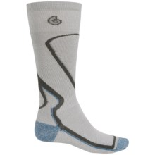 Point6 Park Ski Socks - Merino Wool, Over-the-Calf (For Men and Women) in Silver/Grey - 2nds