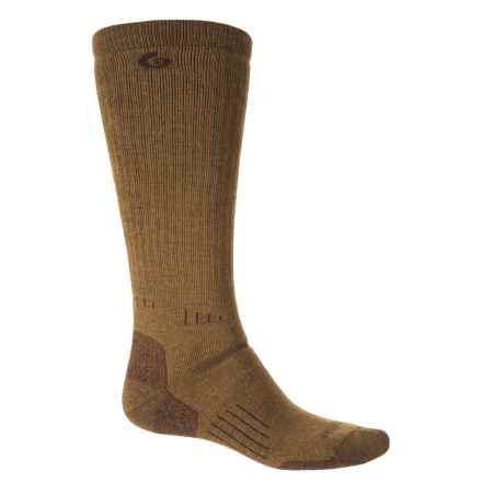 Point6 Patriot Medium Socks - Merino Wool, Over the Calf (For Men and Women) in Coyote Brown - Closeouts