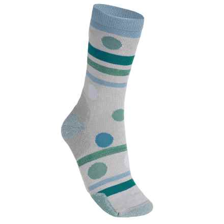 Point6 Polka-Stripe Socks - Merino Wool, 3/4 Crew (For Women) in Silver - Closeouts