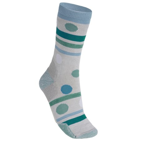 Point6 Polka-Stripe Socks - Merino Wool, 3/4 Crew (For Women) in Silver