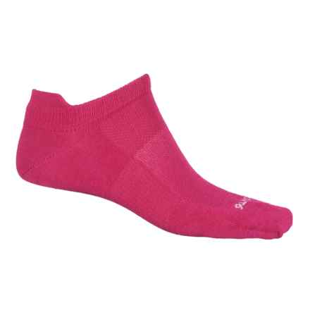 Point6 Pop Tab Running Socks - Merino Wool, Below the Ankle (For Men and Women) in Lipstick - Closeouts