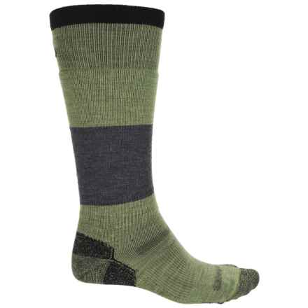 Point6 Powerhouse Snowboard Socks - Merino Wool, Over the Calf (For Men and Women) in Leaf - Closeouts