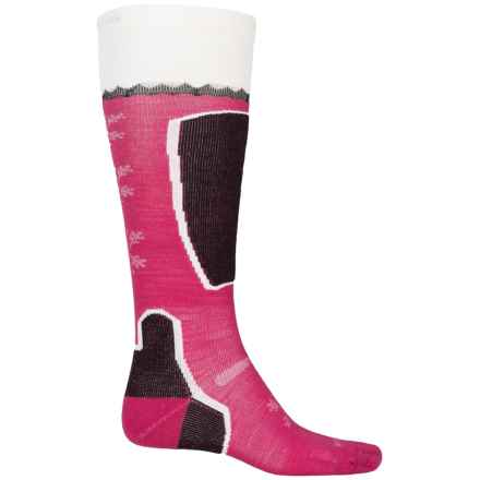 Point6 Pro Frost Ski Socks - Merino Wool, Over the Calf (For Women) in Lipstick - Closeouts