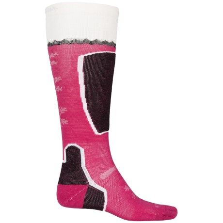 Point6 Pro Frost Ski Socks - Merino Wool, Over the Calf (For Women) in Lipstick