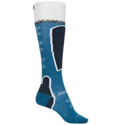 Point6 Pro Frost Ski Socks - Merino Wool, Over the Calf (For Women) in Teal - Closeouts