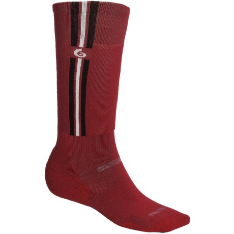 Point6 Pro Parallel Ski Socks - Merino Wool Blend, Over-the-Calf (For Men and Women) in Black